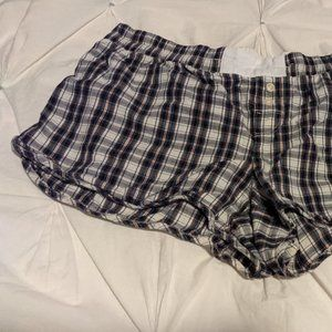 Gap Body Plaid Sleep Shorts | S